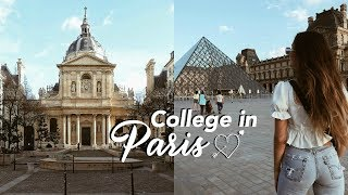 Visiting a university in Paris..