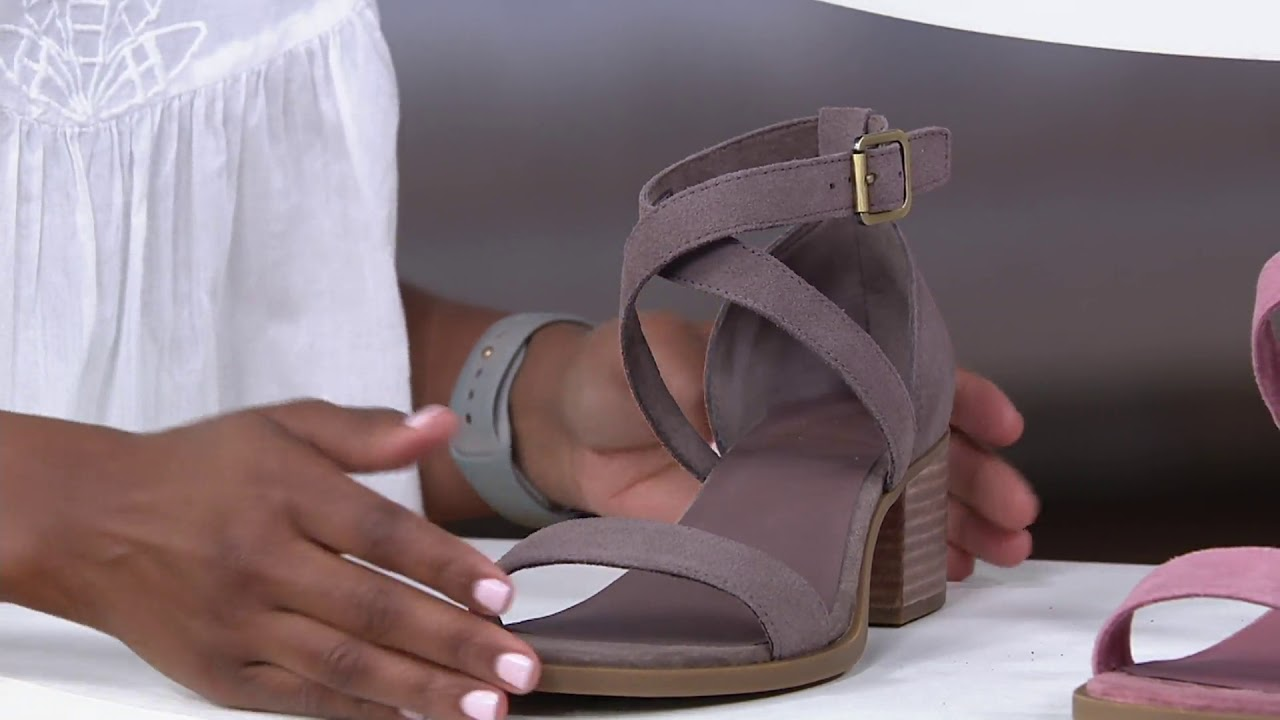 83a606af6 Koolaburra by UGG Suede Heeled Sandal - Eliani on QVC - YouTube