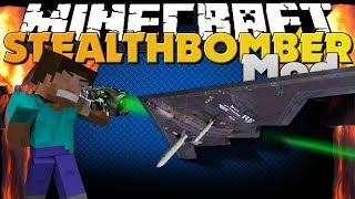 Minecraft Mod - Stealth Bomber Mod - NUKE EVERYTHING (Rival Rebels Mod)