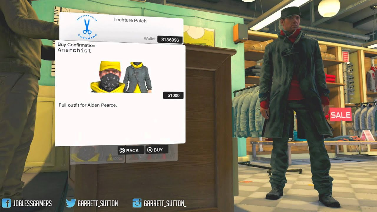 Watch Dogs All Clothes Outfits For Watch Dogs Watch Dogs Youtube