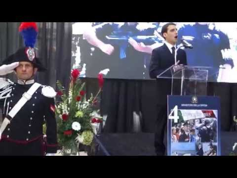 Tenor Marco Fiorante at Italian Embassy Armed Forces Day