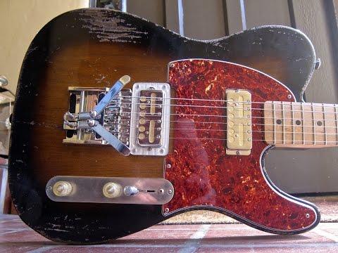 Waterslide T-Style Guitar w/Lollar Gold Foil Pickups & Duesenberg Multibender B/G Bender