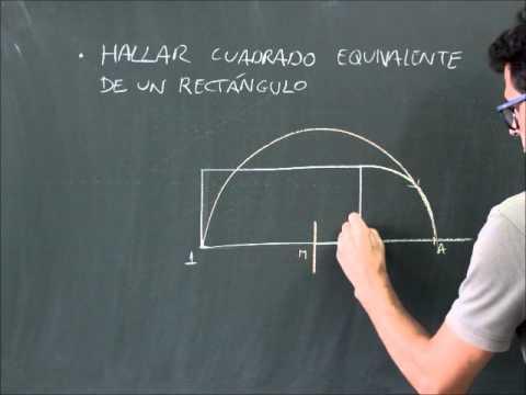 Geometra plana hallar el cuadrado equivalente de un rectngulo