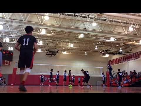 Brebeuf Jr Volleyball TDCAA Championship Final vs Ward 3-0 GOLD medal