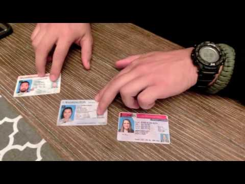 How to spot FAKE ID'S  Microprint