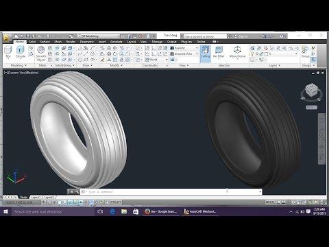 AutoCAD 3D Tire Modeling Tutorial Beginner (Basic)| Engineer AutoCAD | CAD Designs