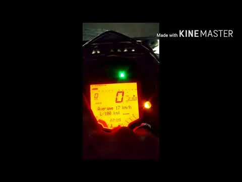 Easy way to calculate the real mileage of KTM duke 200