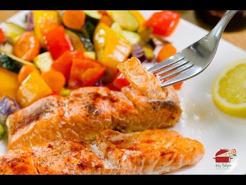SOMON CU LEGUME LA CUPTOR(Salmon With Vegetables At The Oven) #abyblajan #reteteaby#RetetadePost