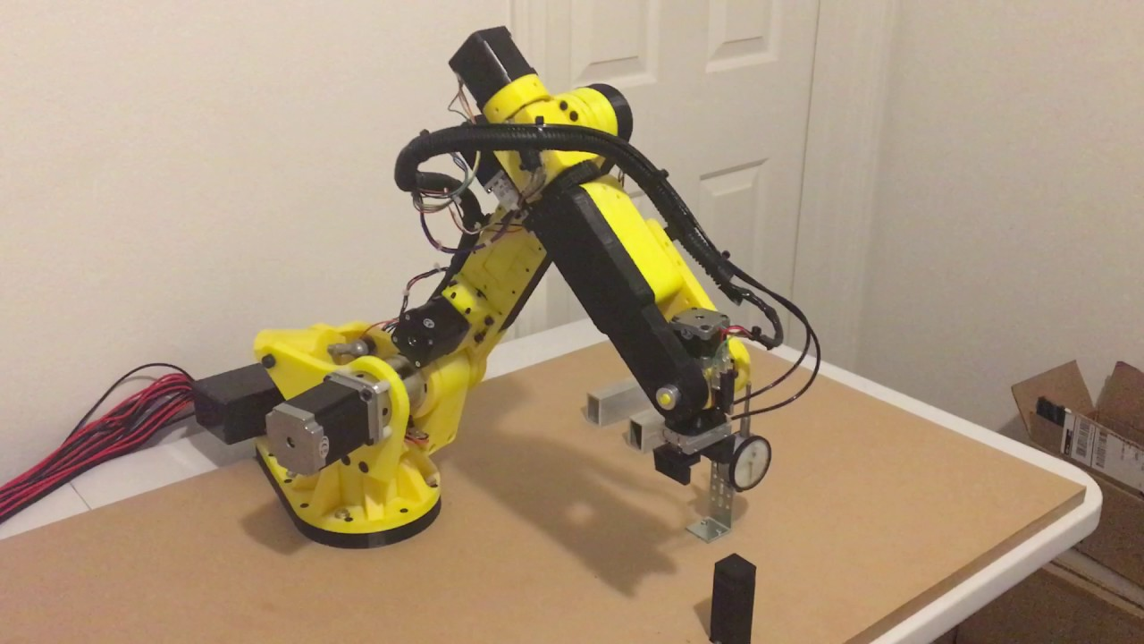 3d Printed 6 Axis Stepper Motor Robot Gen2 Youtube