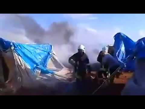 U.S. condemns air strike on Idlib refugee camp