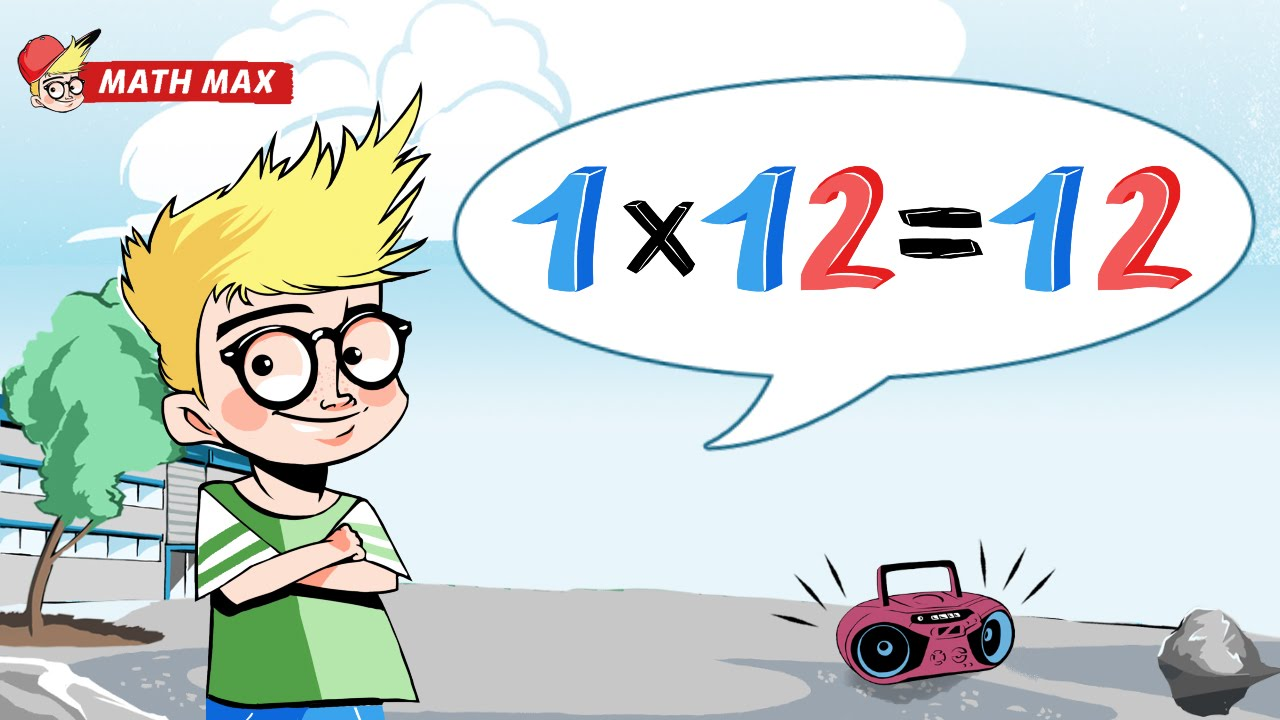 Multiplication table song 12 times table by math max for 12 x table song