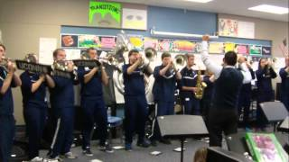 uconn pep band rocks the house at torringford elementary