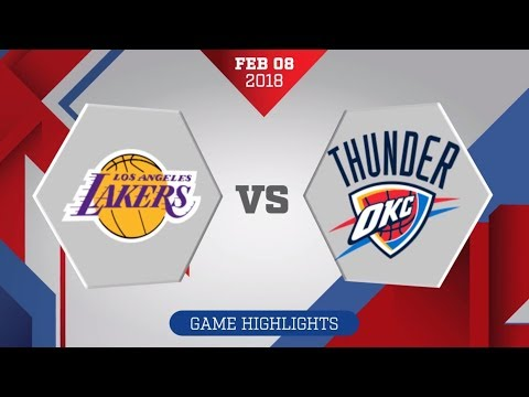 Oklahoma City Thunder vs. Los Angeles Lakers - Febraury 8, 2018