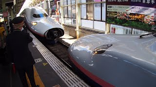もうじき見れなくなる⁉ 2階建て新幹線同士の連結シーン at 高崎駅