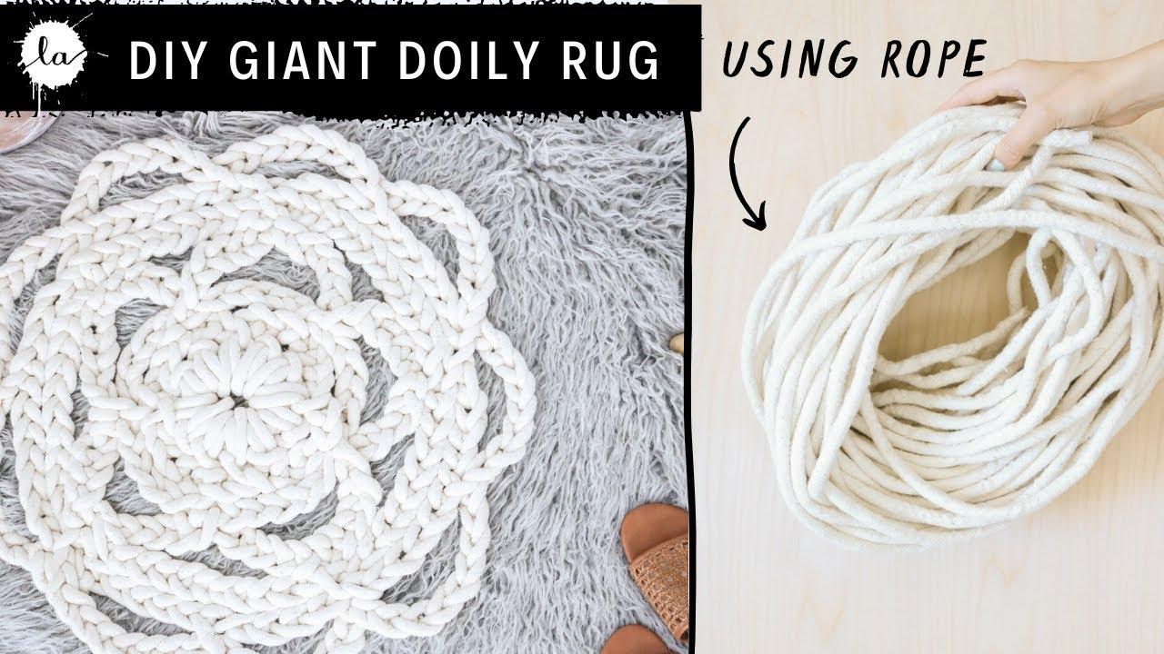 How to make a Rope Rug - Macrame DIY