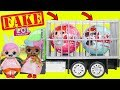 Fake LOL Surprise Dolls Opening + LQL Lil Sisters!