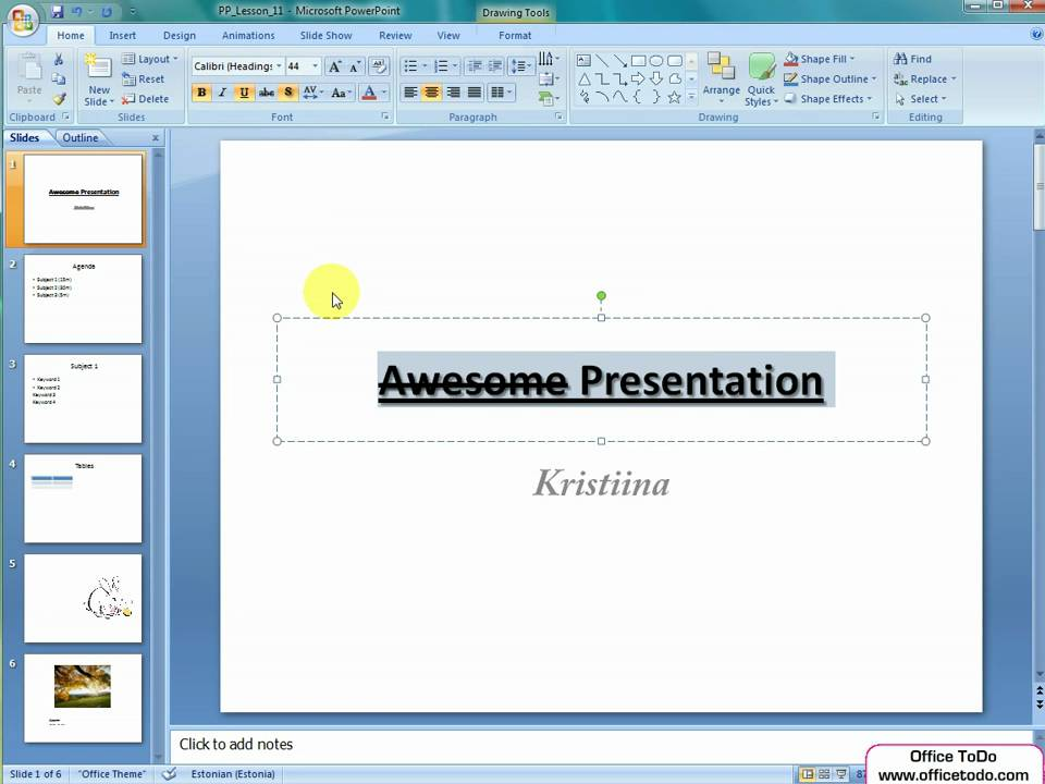 Powerpoint | Editing Text