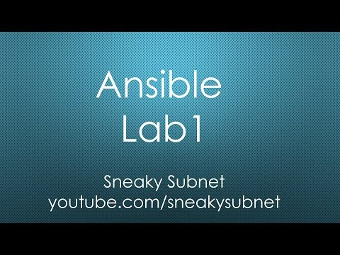 Ansible Lab#1 Cisco IOS