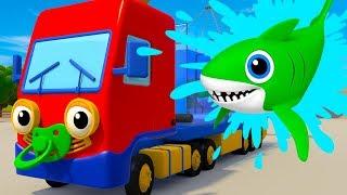 Baby Shark Song vs Baby Truck | Kids Songs | Nursery Rhymes | Gecko's Garage | Songs For Kids