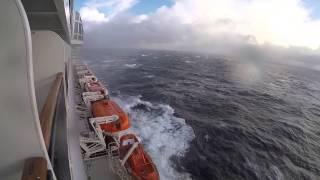 Queen Mary 2 - Rough Sea - Transatlantic Crossing November 2014 - Part 2/2