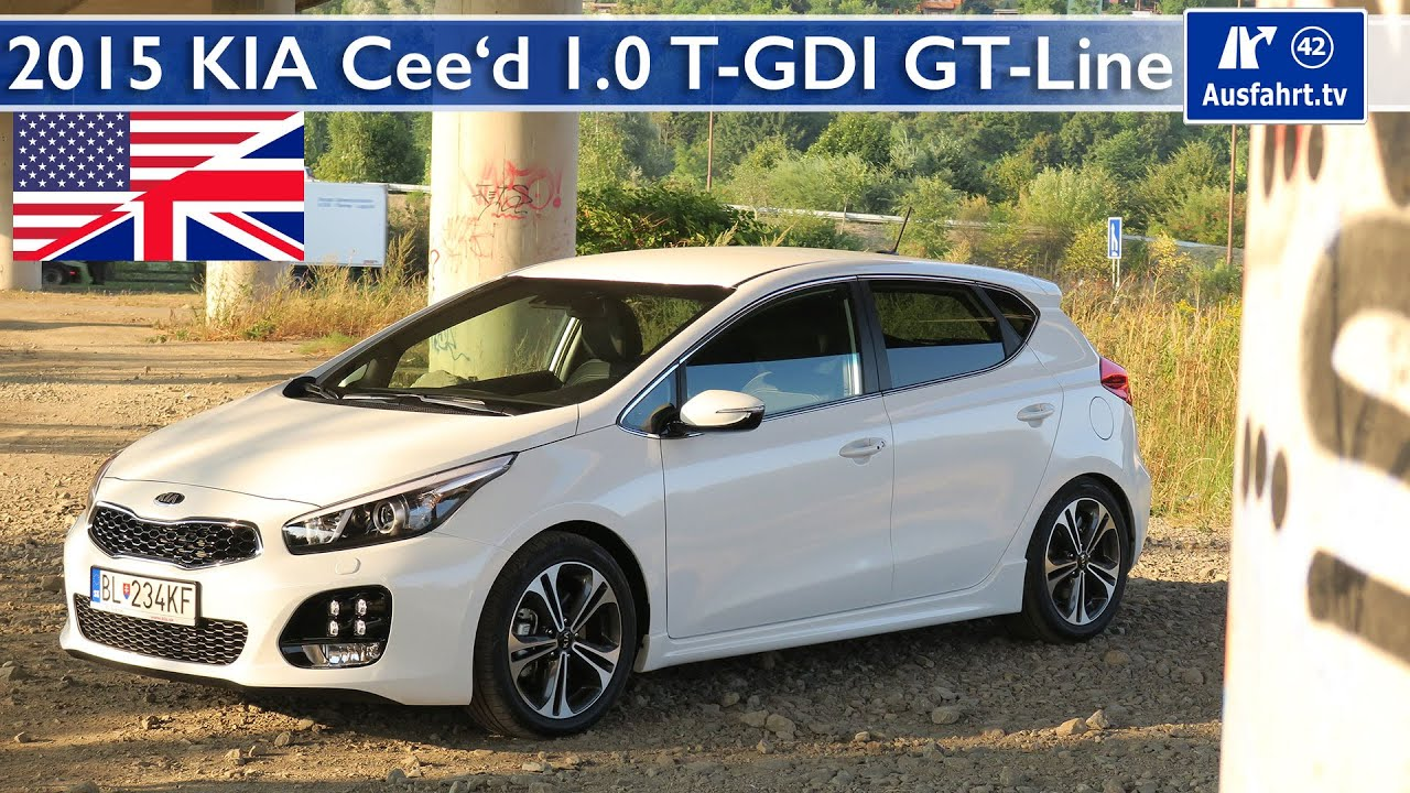 2015 kia cee 39 d 1 0 t gdi gt line test test drive and in. Black Bedroom Furniture Sets. Home Design Ideas