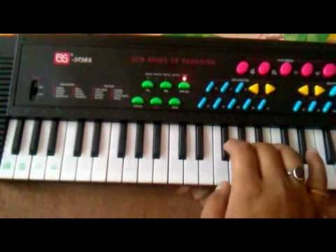 Learn keys on piano keyboard