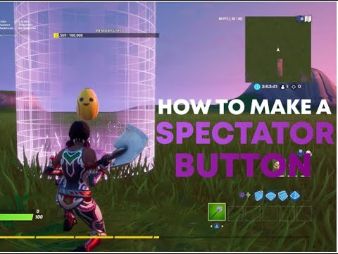 How To Make A 1st Person Spectator Button | Fortnite Creative Tutorial