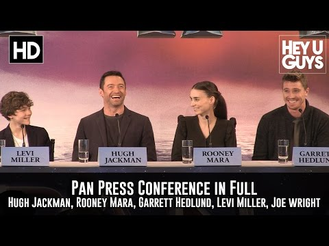Pan Press Conference in Full (Hugh Jackman, Rooney Mara, Levi Miller, Garrett Hedlund)