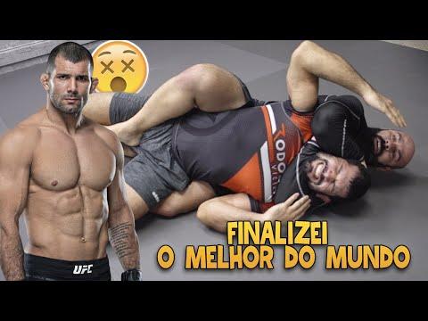 FINALIZEI O RODOLFO VIEIRA DO UFC   O MELHOR FAIXA PRETA DE JIUJITSU DO MUNDO