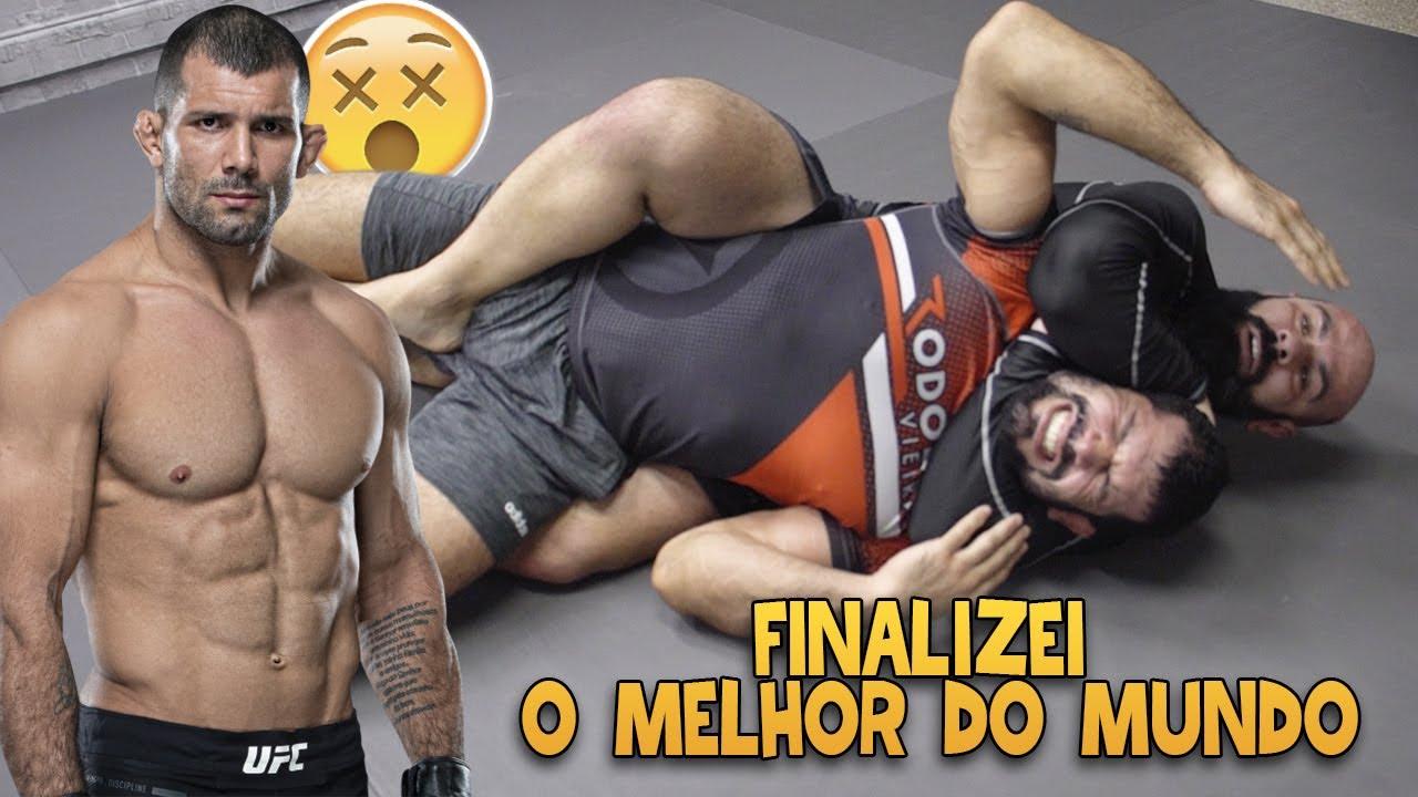 FINALIZEI O RODOLFO VIEIRA DO UFC | O MELHOR FAIXA PRETA DE JIUJITSU DO MUNDO