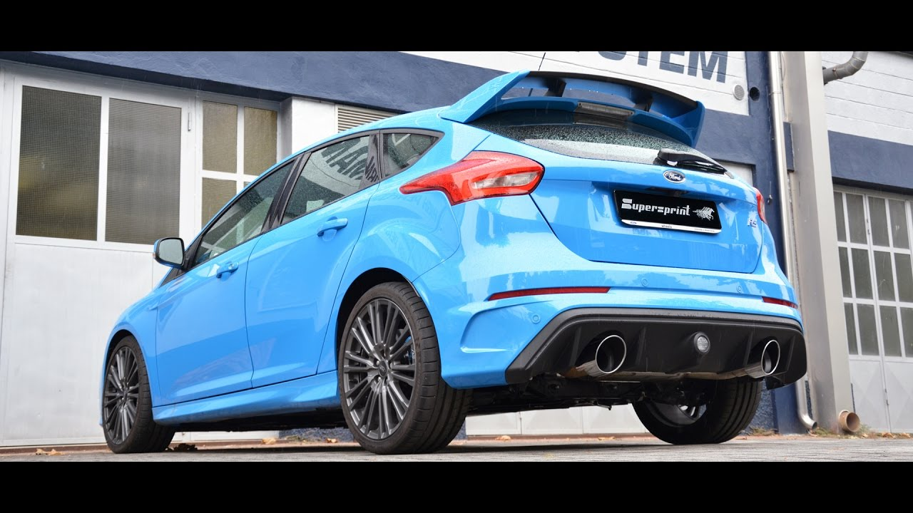 ford focus rs mk3 sound with supersprint full exhaust system with valve