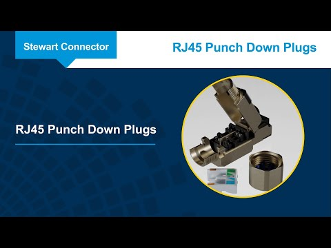 Stewart Connector RJ45 Punch Down Plugs
