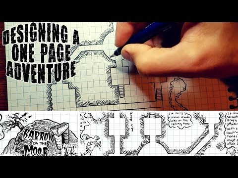 The One-Page Adventure - Drawing, Commentary, Free Download