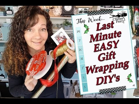 Last-Minute - Easy Gift Wrapping DIY's
