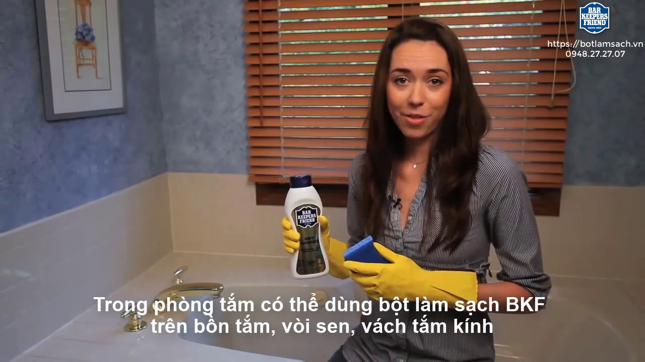 Làm sạch phòng tắm - Bột làm sạch đa năng BKF   subviet