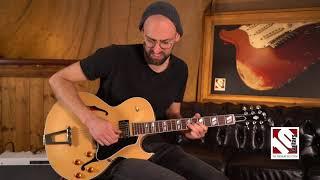 2016 Gibson ES 175 Figured Natural Memphis   Guitar Demo