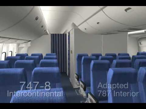 Boeing 747 8 interior youtube for Boeing 747 8 interieur