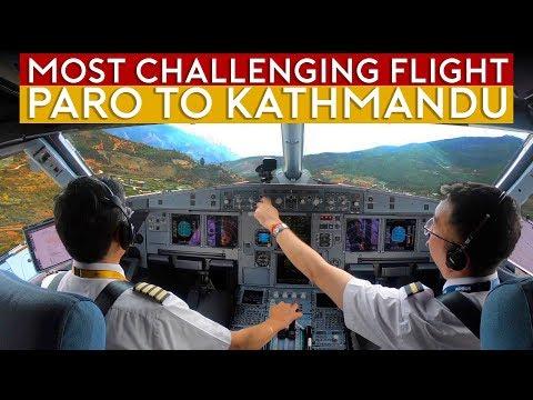 Cockpit Flight Challenge - Paro to Kathmandu over Himalayas