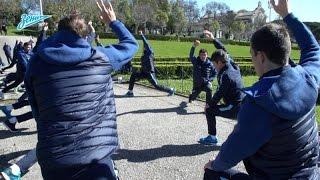 «Зенит» — «Бенфика»: утренняя растяжка в лиссабонском парке