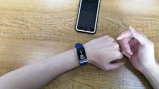 T1 smart watch body temperature test and ECG test