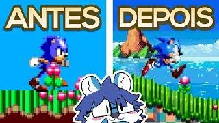 O REMAKE DO SONIC 8-BIT QUE FICOU FANTÁSTICO! • Sonic Chaos Remake Gameplay