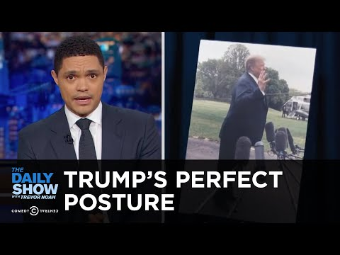 The Source of Trump's Totally Not Weird Way of Standing | The Daily Show