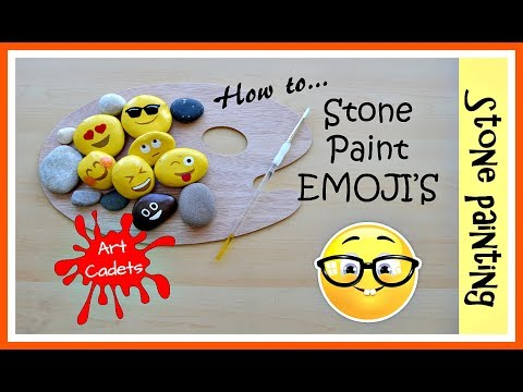 How To Paint Emoji's On Stones (pebbles)