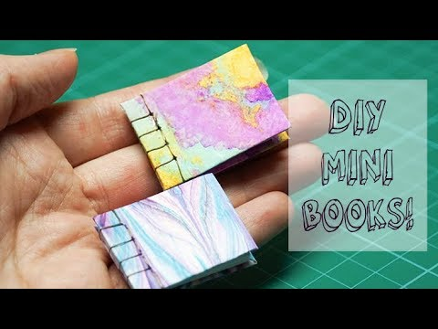 DIY Mini Book | Japanese Stab Binding in Miniature | Step-by-Step How To