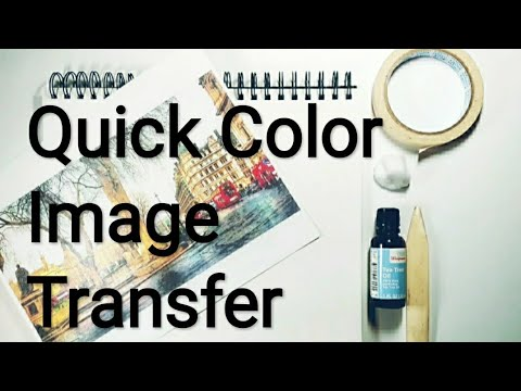 DIY oil image and photo transfers