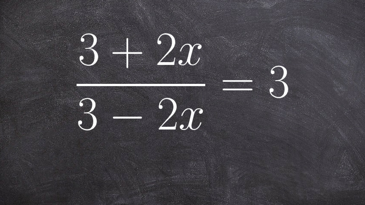 (3–2x)=3 Multiplying Addition And Subtraction Of Algebraic Fractions