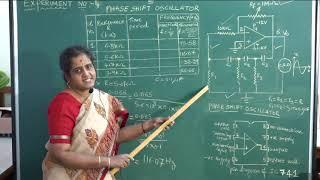 II PUC   Electronics   Practicals - Phase shift oscillator- 04