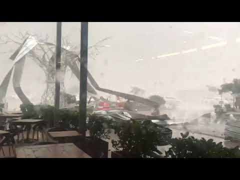 Severe storm tears through cradlestone mall.