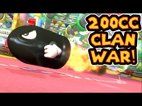 Mario Kart 8 Deluxe MKU 200cc Clan War - BzK Vs. AC