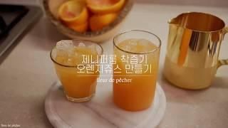 [플루드빼쉬] 제니퍼룸 착즙기로 오렌지쥬스 만들어마셔요